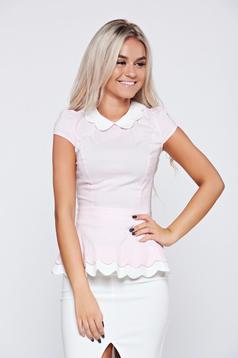 Fofy rosa cotton women`s shirt short sleeve