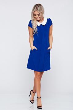 Fofy blue easy cut dress with pockets