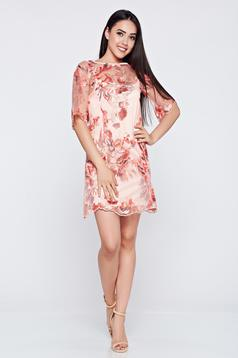 Occasional LaDonna rosa embroidered laced dress