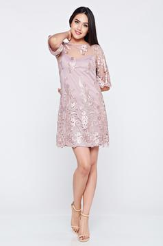 Occasional LaDonna lila embroidered laced dress