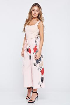 Rosa casual trousers with floral prints easy cut