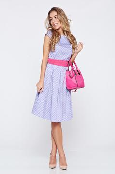 LaDonna cloche lightblue cotton dress dots print
