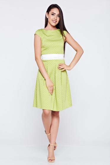 LaDonna cloche lightgreen cotton dress dots print