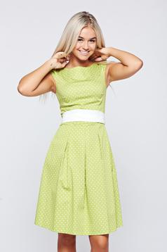 LaDonna cloche lightgreen cotton dress dots print