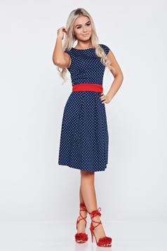 LaDonna cloche darkblue cotton dress with dots print