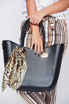 Black office bag comes with a scarf