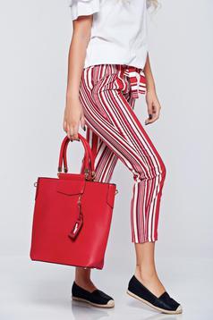 Office red bag short handles