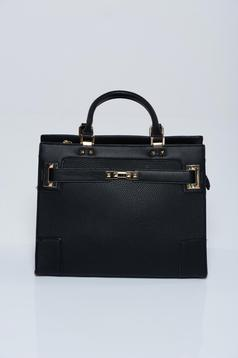Black office bag with short handles