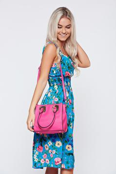 Pink casual bag metalic accessory