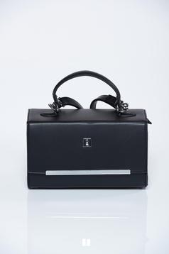 Black bag metalic accessory long, adjustable handle