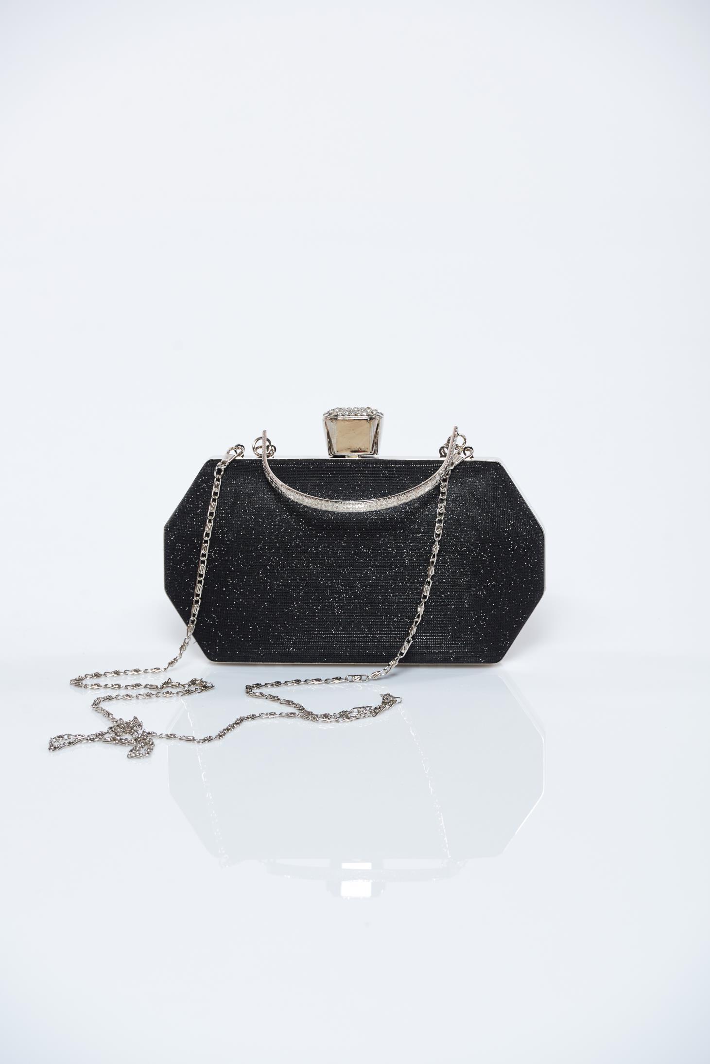 2a467354fd Fekete alkalmi táska csillogó díszítések