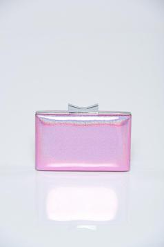 Lightpink elegant bag metallic chain accessory