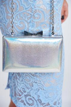 Silver elegant bag metallic chain accessory