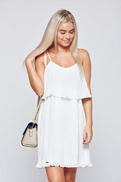 Top Secret white airy fabric dress with straps