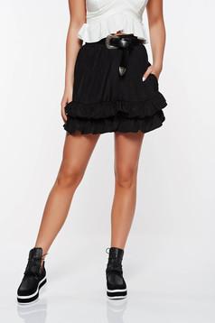 Ioana grama by StarShinerS black easy cut short with medium waist