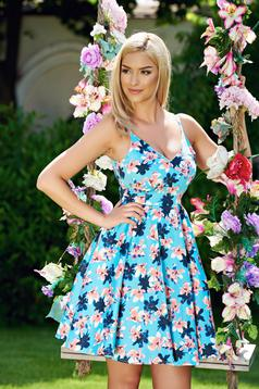 StarShinerS blue cloche dress with v-neckline and straps