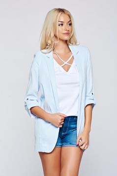 Top Secret white tented long jacket with 3/4 sleeve