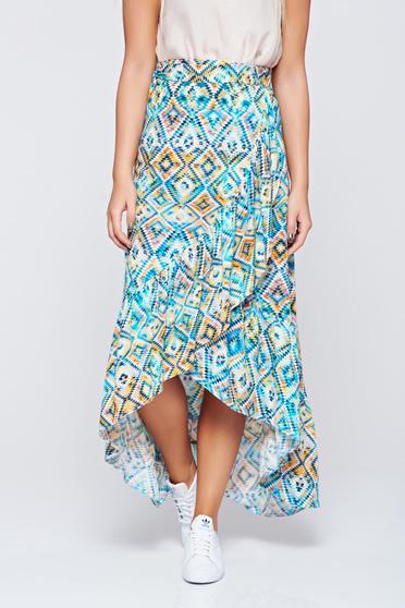 Top Secret blue casual cloche asymmetrical skirt