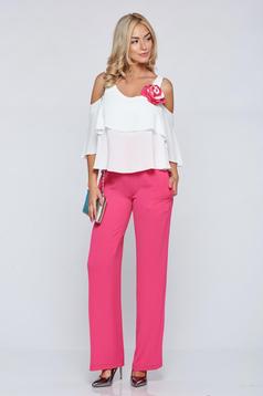 LaDonna fuchsia elegant sleeveless jumpsuit with ruffle details