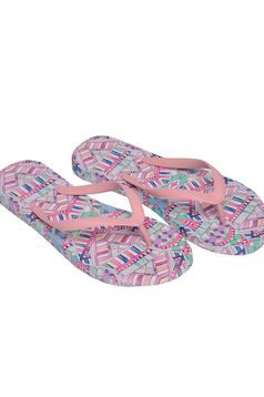 Top Secret rosa slippers beach wear print details