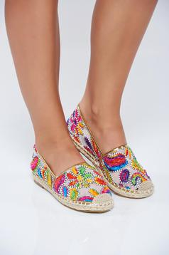 Blue light sole espadrilles with embroidery details