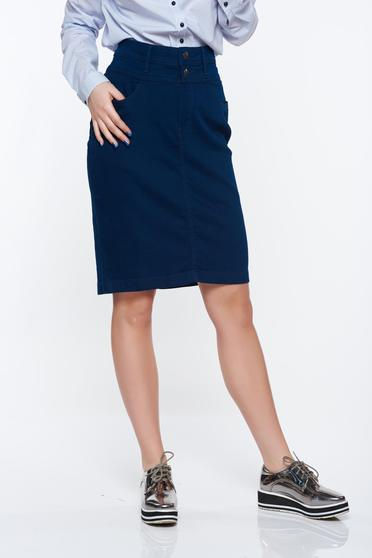 Top Secret darkblue skirt casual high waisted with pockets