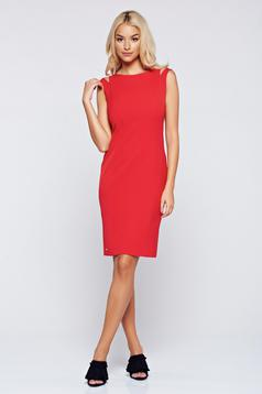 Top Secret elegant red sleeveless pencil dress