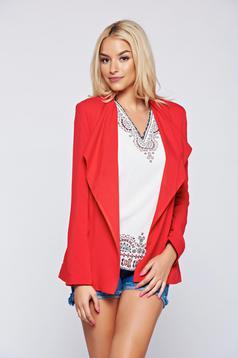 Top Secret red long sleeve blazer