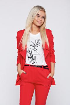 Top Secret red long sleeve blazer