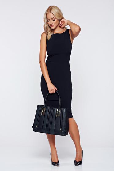 StarShinerS basic black pencil cut back dress