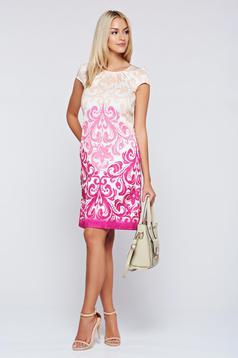 Fofy elegant fuchsia easy cut dress with pockets