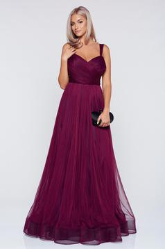 Ana Radu occasional purple net cloche dress