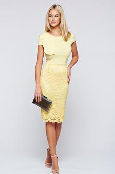 StarShinerS occasional yellow laced dress