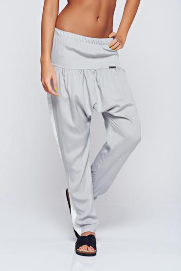 PrettyGirl grey casual trousers elastic waist