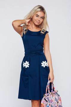 LaDonna cloche darkblue cotton embroidered dress