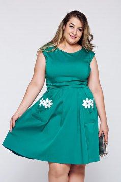 LaDonna cloche green cotton embroidered dress