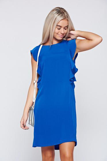 Top Secret elegant flared sleeveless blue dress