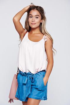 Rosa casual easy cut top shirt with straps