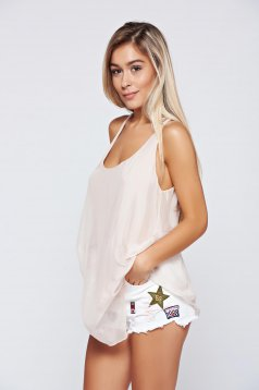 Rosa voile fabric easy cut top shirt