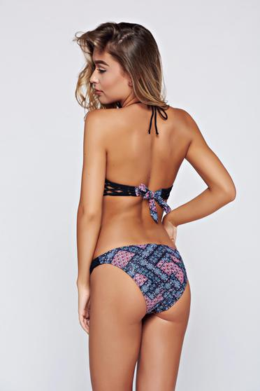 Top Secret black normal bikinis with print details
