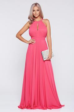 Fofy occasional coral cloche sleeveless dress