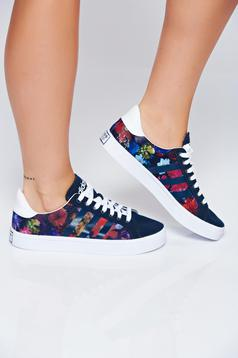 Adidas originals casual black sneakers with floral prints