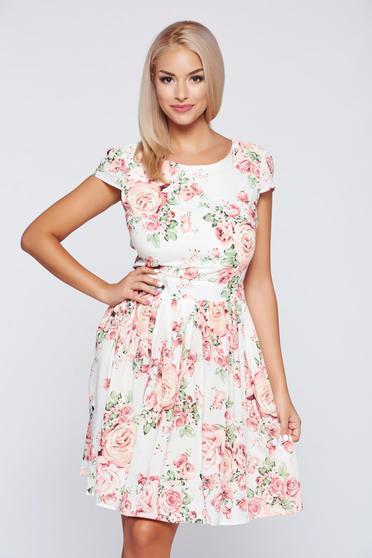 PrettyGirl rosa cotton cloche bare back dress