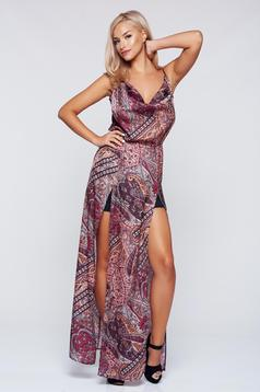 StarShinerS brown beach wear dress with cut back