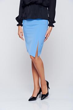 StarShinerS blue office pencil skirt with medium waist