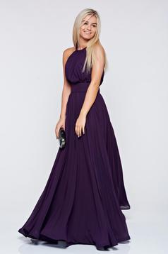 Occasional Ana Radu purple cloche dress voile fabric