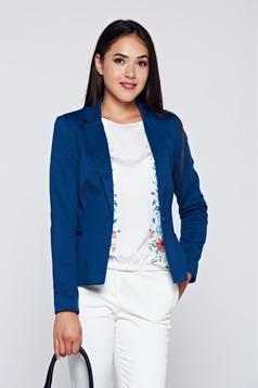 Top Secret darkblue office tented jacket with faux pockets