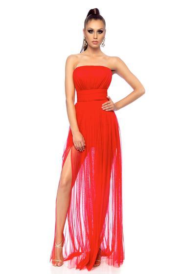 Ana Radu occasional cloche sleeveless red dress