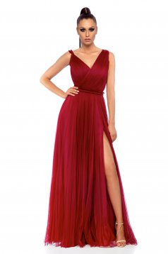 Ana Radu occasional cloche burgundy net dress