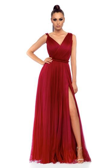 Ana Radu occasional cloche burgundy net dress